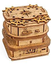 iDventure Kluebox – Davy Jones Locker – Escape Room spel – kniffiga 3D träpussel – unika vitspel – Escape Box spel för vuxna och pusselbox för barn