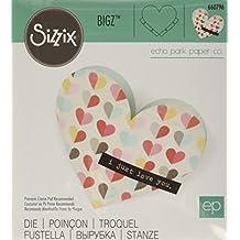 """Sizzix Bigz Die By Echo Park 5.5""""X6""""-Heart Pocket"""