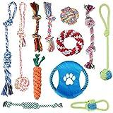 Dog Rope Toys [12 Pack] Oziral Puppy Braided Rope Toys Set Pet Dog