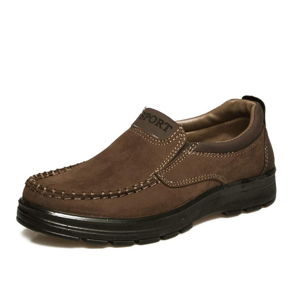 Qiusa Große alte Peking-Tuch-Schuhe für Männer (Farbe Nicht Beleg-dauerhafte Breathable Schuhe (Farbe Männer : Braun, Größe : EU 46) Braun a81380