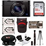 Sony DSC-RX100M III w/ Rechargable Lithium-Ion Battery Pack & 32GB Accessory Bundle