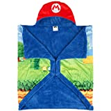 "Kitchen Designers Franco Kids Bedding Soft and Cozy Snuggle Wrap Wearable Blanket, 55"" x 31"", Super Mario"