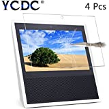 YCDC 9H Hardness Tempered Glass Film for Amazon Echo Show Speaker,0.3mm 2.5D Bubble Free HD Screen Protector,4Pcs Pack