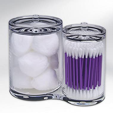 Epica Clear Cotton Ball and Swab Organizer