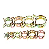 SODIAL 100Pcs 6-22mm Spring Clip Fuel Line Hose Water Pipe Air Tube Clamps Fastener