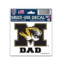 Missouri Tigers Dad 3 x 4 Car Decal