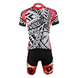 PaladinSport Women's New Style Perspiration Breathable Bike Jersey Set Size S