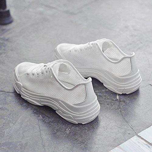 NGRDX&G Weiße Schuhe Weibliche Hohle Atmungsaktive Mesh Turnschuhe Net Schuhe