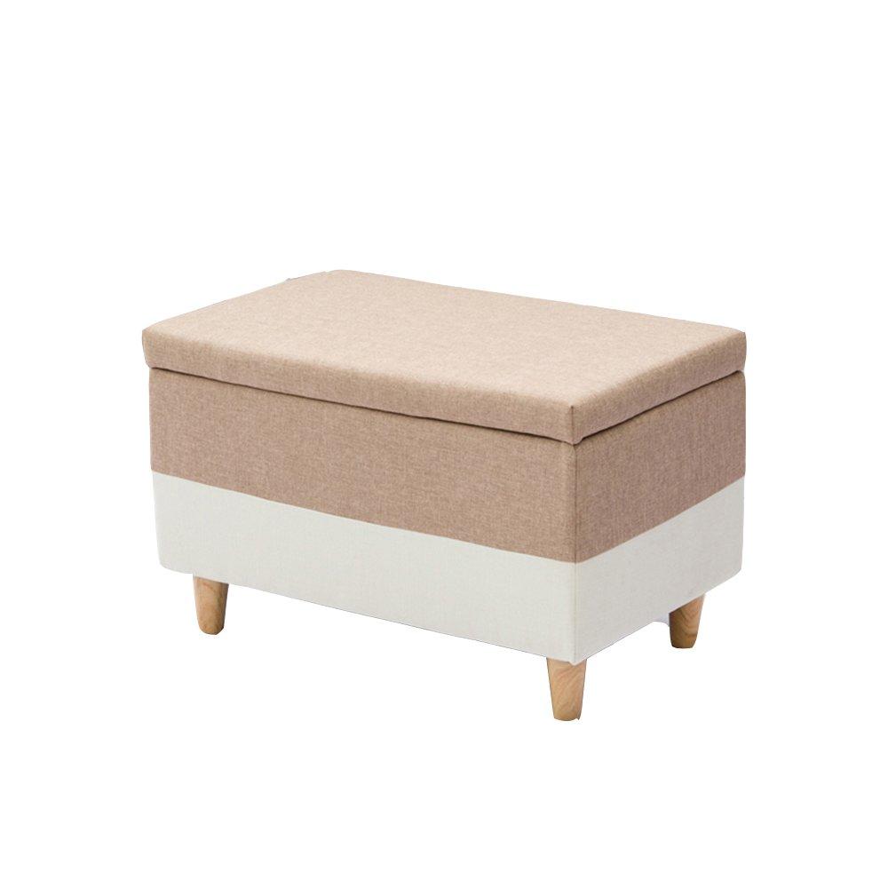 Taburete de almacenaje Almacenamiento de heces paño Puede Sentarse en el Taburete del Taburete del sofá del Cambio del sofá (6 Colores Opcionales) (los 75  40  42