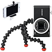 Joby GPM-A1EN GorillaPod Magnetic Flexible Tripod (Black) with Universal Smartphone Tripod Mount Adapter