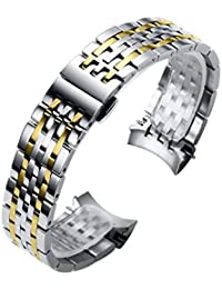 Tissot Le Locle T41 and T006 Series Watch Band 19mm Stainless Steel Metal Link Bracelet Strap