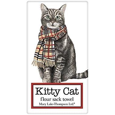 Burberry Holiday Tabby Cat 100% Cotton Flour Sack Dish Tea Towel - Mary Lake Thompson 30  x 30