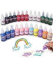 Bulk Buy- Puffy Paint 24 Pack Premium Quality Nontoxic 3D Paint Set
