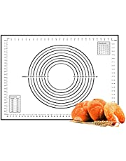 Large Silicone Baking Mat (16 x 23.5 inch), TERSELY Professional Grade Pastry Mat for Macaron/Cake/Bread Making, Non Stick Non Slip Reusable Heat-Resistant(60×40cm)
