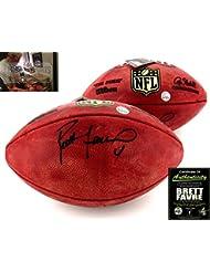 Brett Favre Autographed Signed Wilson Authentic Duke NFL Football - Black Ink - Green Bay Packers