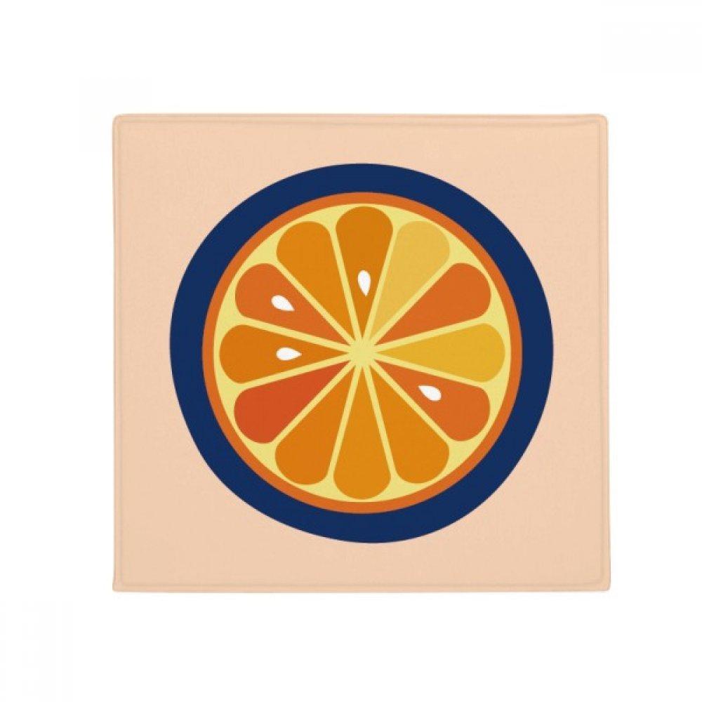 DIYthinker O Alphabet orange Fruit Cute Pattern Anti-Slip Floor Pet Mat Square Home Kitchen Door 80Cm Gift