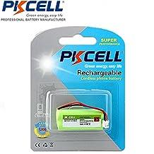 PKCELL Cordless phone Batteries for BT166342 BT266342 BT183342 BT283342 AT&T EL51100, EL51200, EL51250, EL52100, EL5220, EL52200, EL52210, EL52250, EL52300, EL52350, EL52400, EL52450, EL52500, EL52510 (1) (1)