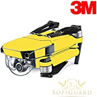 SopiGuard 3M Matte Yellow Precision Edge-to-Edge Coverage Vinyl Skin Controller Battery Wrap for DJI Mavic Pro