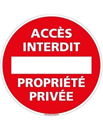 Protection Anti-UV Panneau Acc/ès Interdit au Public Plastique rigide PVC 1,5 mm Dimensions 210 x 75 mm Double Face au Dos