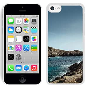 New Beautiful Custom Designed Cover Case For iPhone 5C With One Sunny Day Sea Rock Beach Nature (2) Phone Case