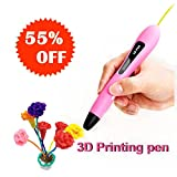 3D Drawing Printing Doodler Pens, best birthday presents for kids teen girls 5 6 7 8 9 10 years old, Clean PCL Refills, Low Temperature Nib, Create Arts and Crafts, Creative Toys to Keep Kids Busy