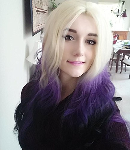 Drag Queen Costumes Ebay (Heahair Handtied Triple Blonde Purple Black Body Wave Synthetic Lace Front Wig for Women)