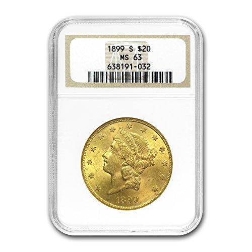 1899 S $20 Liberty Gold Double Eagle MS-63 NGC G$20 MS-63 NGC