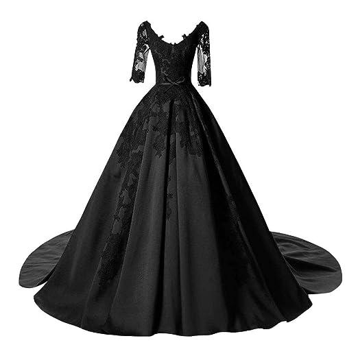 Dingzan Satin Applique Ball Prom Quinceanera Dresses Wedding