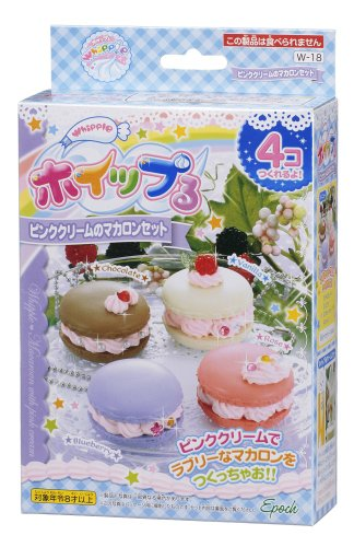 Whipple W-18 Pink Cream Macaron Set Japanese Sample/replica Food Making Kits
