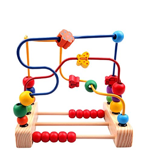 ixaer First Bead Maze-Wood Manipulative Educational Toy for Toddlers Christmas Gift ()