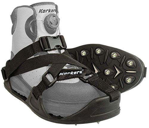 Korkers CastTrax Cleated Overshoe, Black/Moonrock, Medium ()