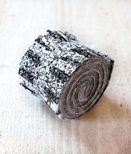 """Black /& White Jelly Roll 40-2.5/"""" Strips Quilting /& Sewing Fabric"""