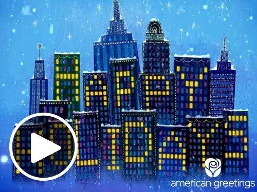 City Lights Christmas Animated eGift Card