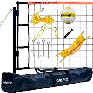 Park & Sun Sports Tournament Flex: Portable Outdoor Volleyball Net System, Blue
