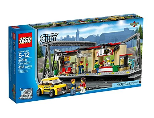 Lego Toys For 5 Year Old Boys - City - Train Station, Taxi and Railroad Track Pieces