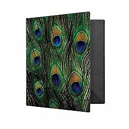 Peacock Print 3-ring Binder
