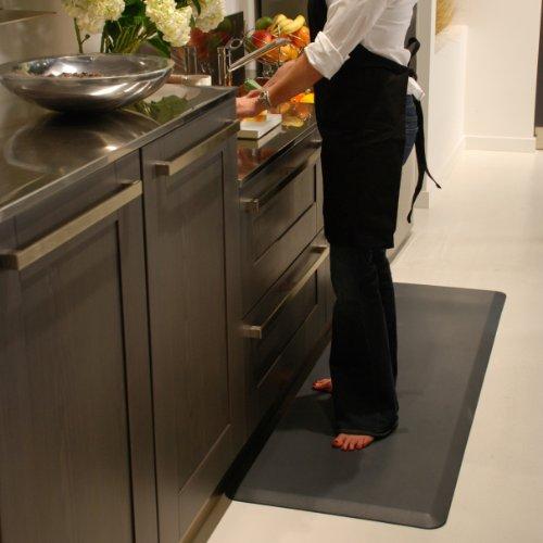 WellnessMats Original Anti-Fatigue 72 Inch by 24 Inch Kitchen Mat, Grey by WellnessMats (Image #1)