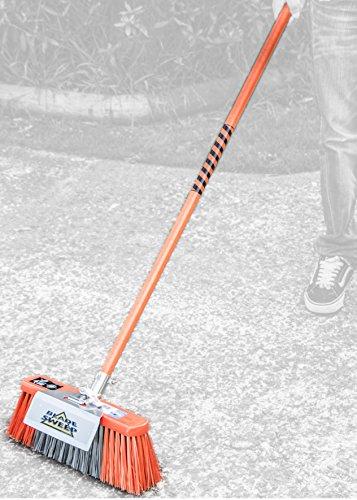 Gutter Whiskers Blade Sweep Broom with Fiberglass Handle,...