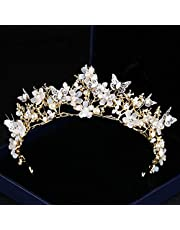 Crown Tiara for Women -Flower Butterfly Prom Queen Crown Quinceanera Pageant Crowns Princess Crown Rhinestone Crystal Bridal Wedding Crowns Tiaras (crown tiara 09)