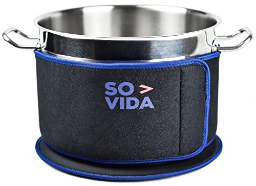 SO-VIDA Sous Vide Insulation Band (5.5 Inch) and Mat for Pots - Protects Your Work Surfaces and Saves You Electricity From Increased Insulation (Best Insulator Of Electricity)