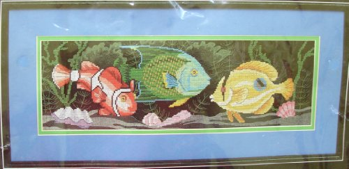 Dimensions No Count Cross Stitch (Exotic Tropical Fish (No Count Cross Stitch Kit) By Dimensions)