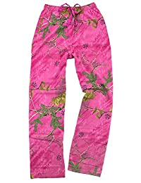 Women's Pink Realtree(R) Camouflage Flannel Pajama Pants