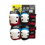 187 Killer Pads Junior Six Pack Combo Set - Red / White / Blue