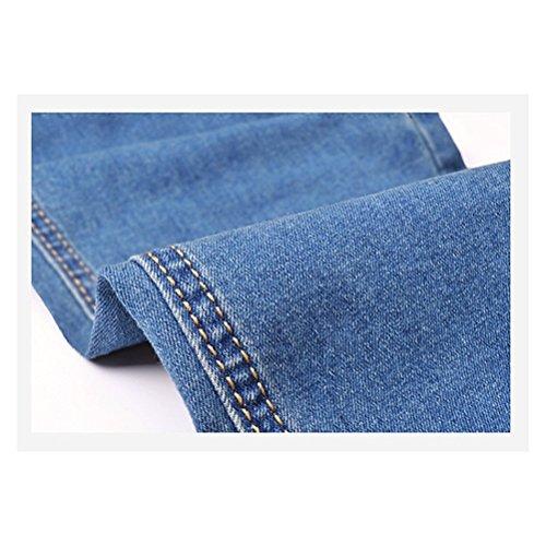 Oudan Leggings Normale Jeans Azzurro Vita In Basic Elastico Donna Casuali Denim Pantaloni Skinny xgZxO