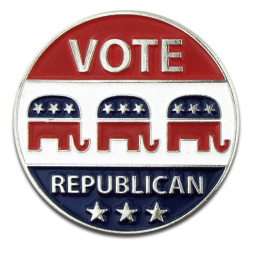 Elephant Pin Republican (PinMart Vote Republican Elephant Political Patriotic Lapel Pin)