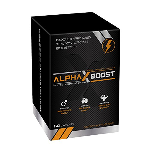 Alpha X Boost- Optimum Performance Technology- Natural Testosterone Booster- Replenish Natural Test Levels- Safe and Effective- Build Muscle- Burn Fat- Boost Metabolism - Power Booster Test