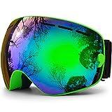 hongdak Ski Goggles, Snowboard Goggles UV Protection, Snow Goggles Helmet Compatible men women boys girls kids, Anti fog OTG