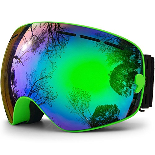 hongdak Ski Goggles, Snowboard Goggles UV Protection, Snow Goggles Helmet Compatible for Men Women Boys Girls Kids, Anti Fog ()