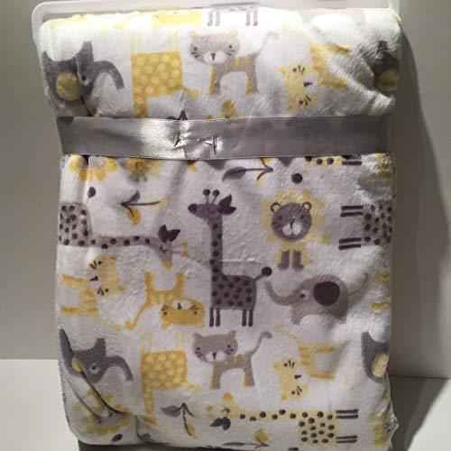 (Large Pastel Silk Scren Colors Baby Blanket Unisex )