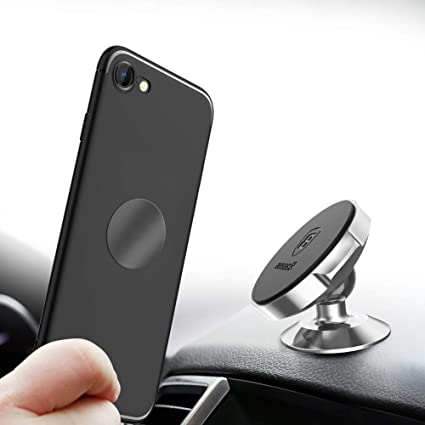 1 Air Vent Bonus Stick-on Card Wallet Ultra Strong Magnets for Dash New 2-Pack of The Best Magnetic Car Mounts iPhone Xs Max X Xr 8 7 6 Plus 1 Adhesive Swivel Samsung Universal: Any Phone